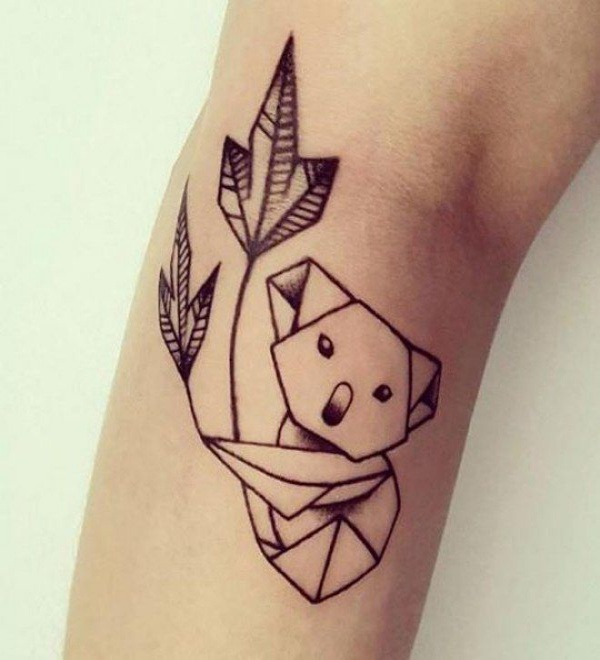 Meaningful Geometric Animals Tattoo To Try