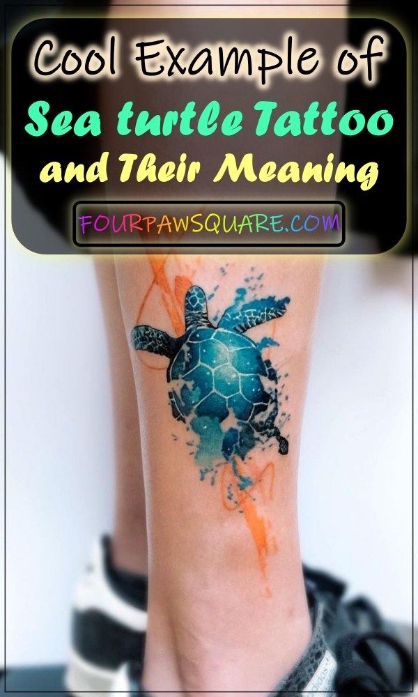 Cool Example of Sea turtle Tattoo and Their Meaning