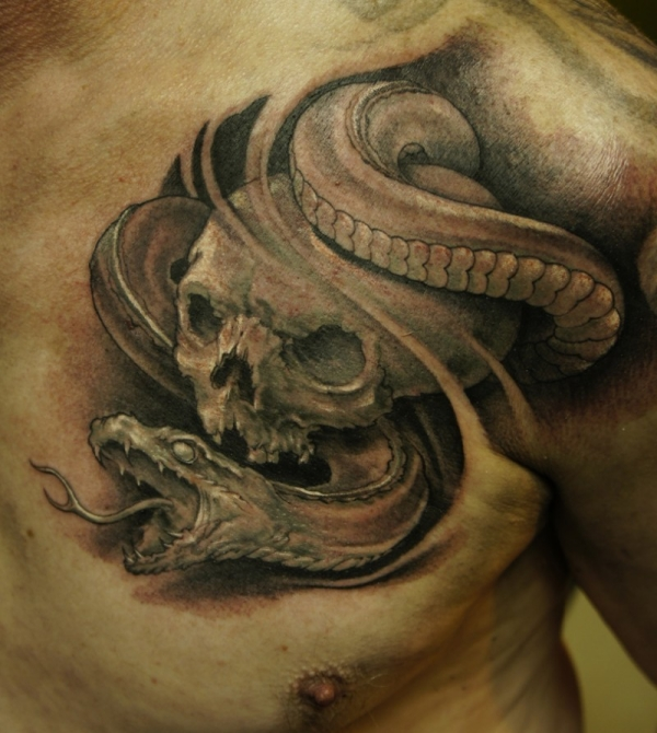 Realistic Snake tattoo Design and their Meaning