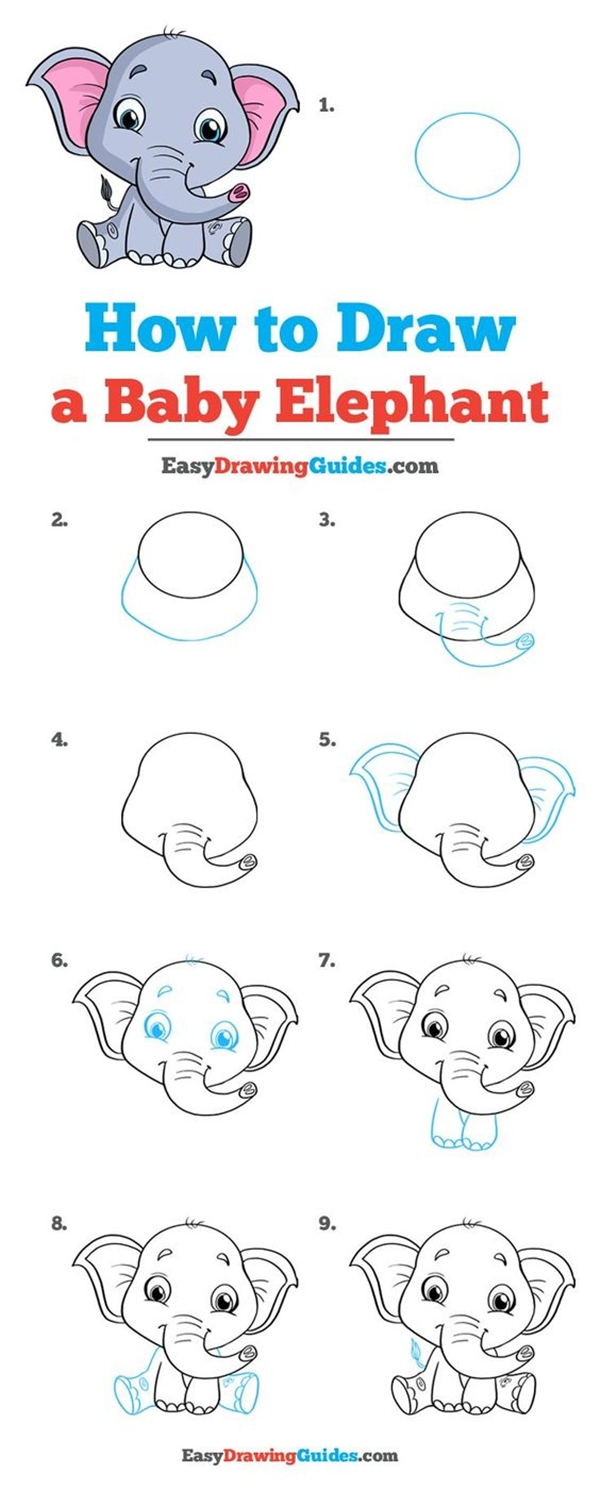 25 Easy and Cute Animal Drawing Ideas For Kids