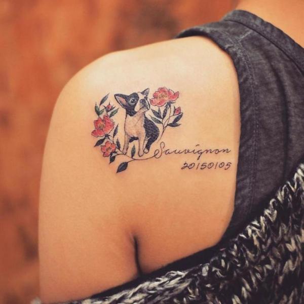 Dog Memorial Tattoo