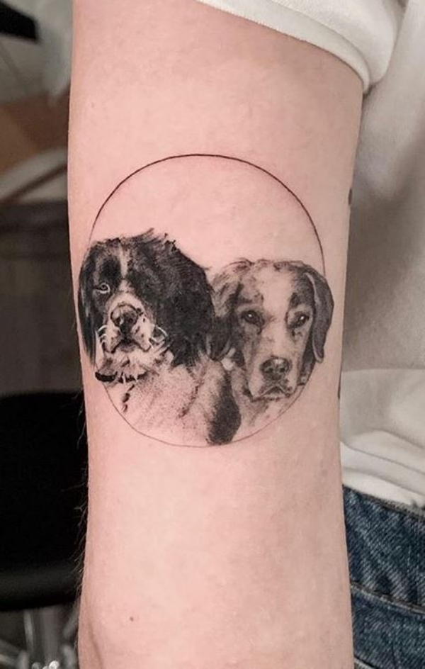 Pairing a Dog Tattoo with Sun