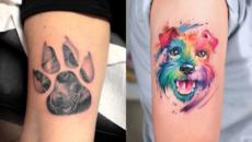 40 Minimalistic Dog Tattoo Designs and Ideas