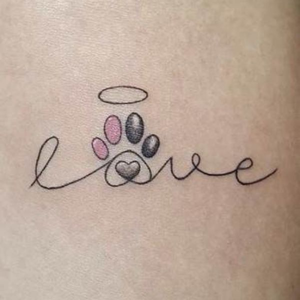 Minimalistic Dog Tattoo Designs and Ideas